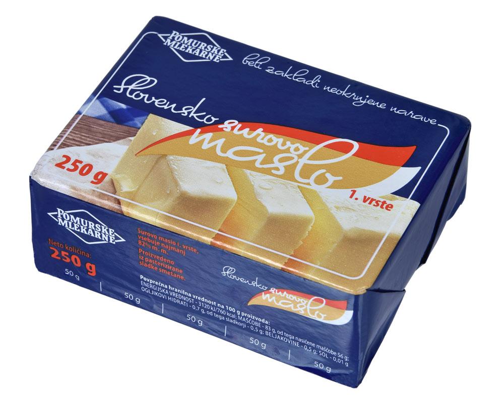 Pomurske mlekarne Slovensko surovo maslo 250g