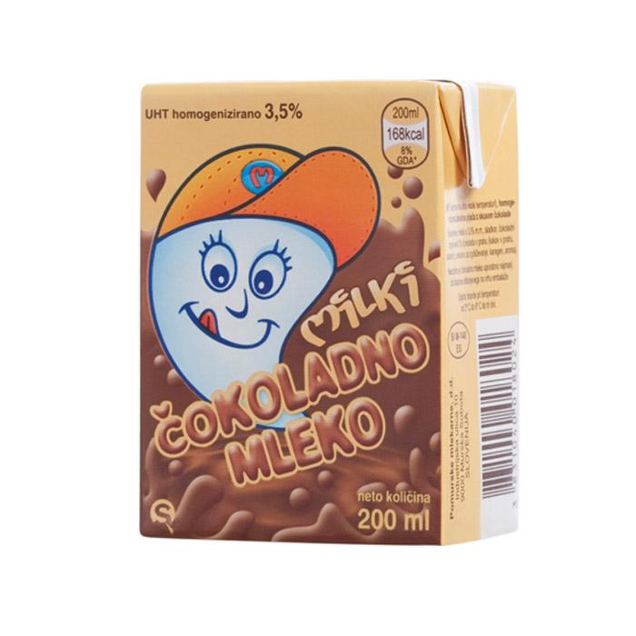 Pomurske mlekarne Milki čokoladno mleko