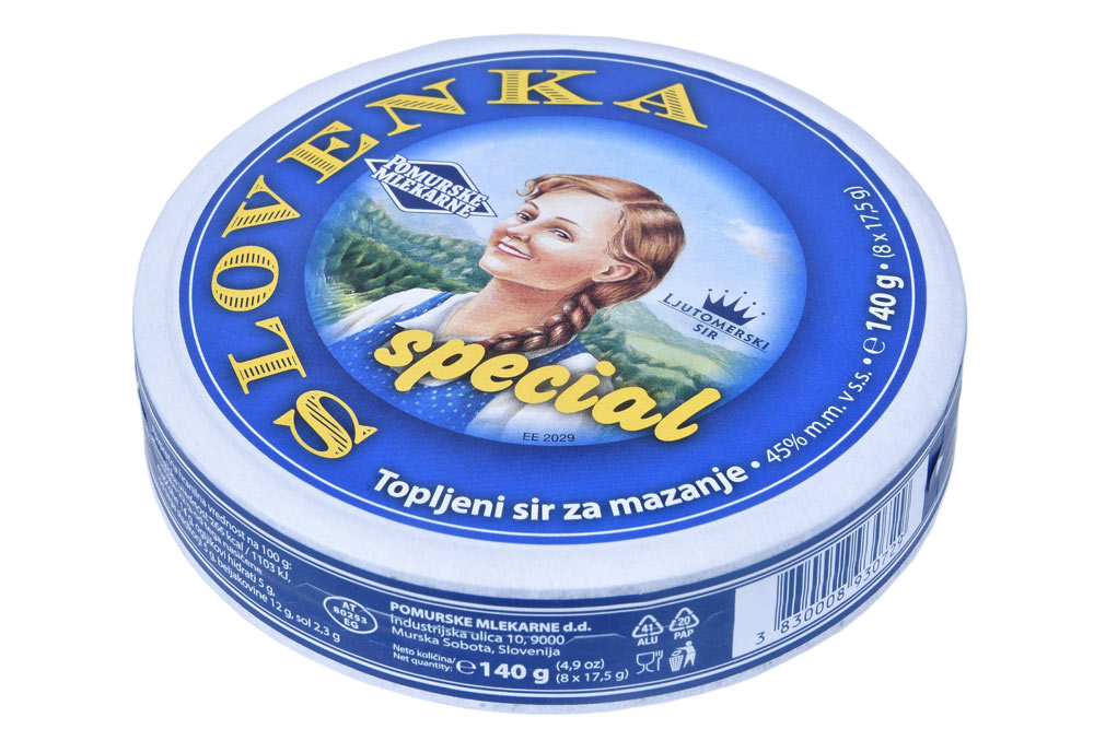 Processed cheese spread Slovenka Special