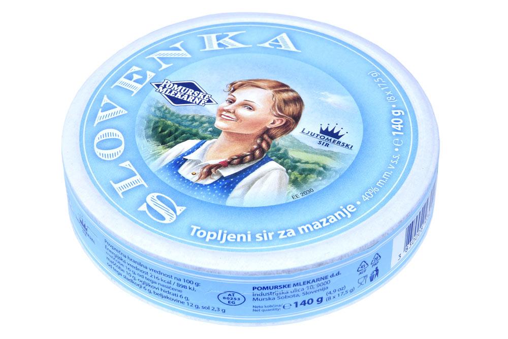 Topljeni sir za mazanje Slovenka special