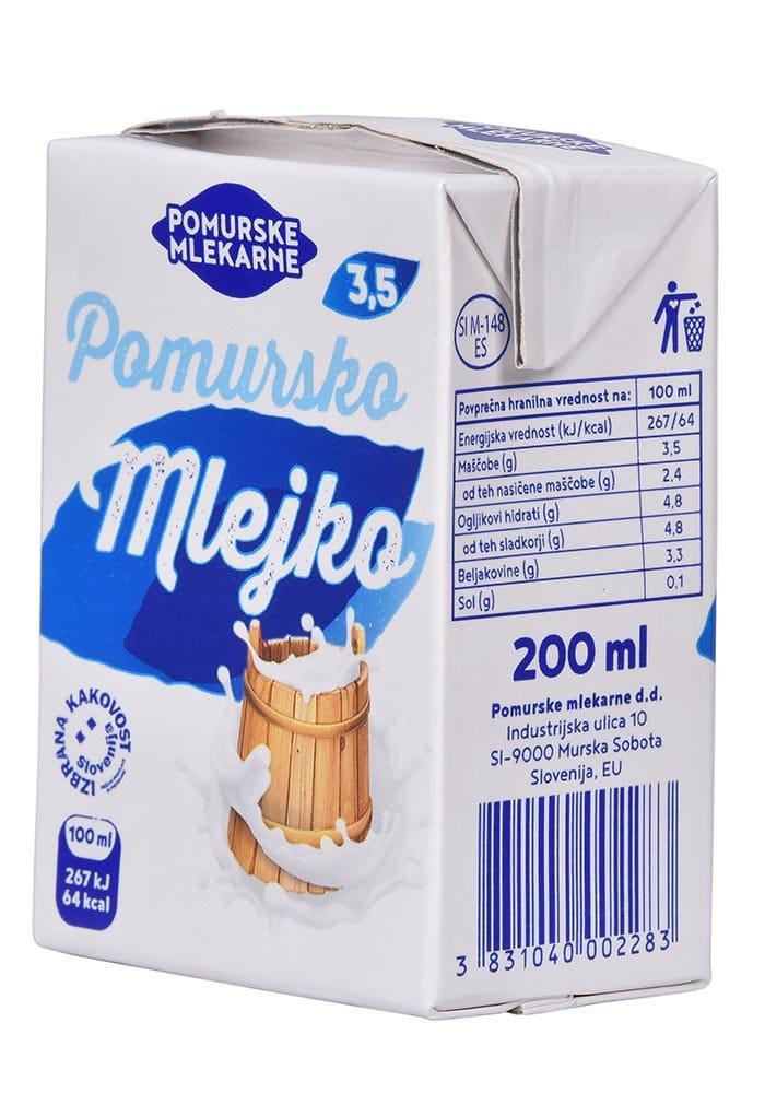 Pomursko mlejko z 3,5% maščobe